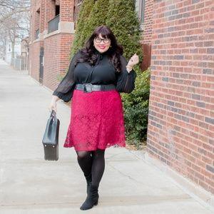 Nanette Lepore Flared Lace Skirt